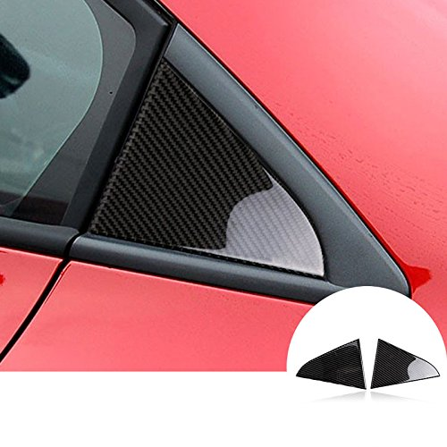 Carbon Fiber Rear Window Triangle Panel Trim Cover For Chevrolet Cruze 2009-2015