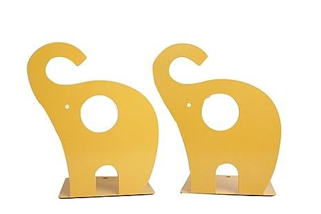 ideale come regalo per la casa e l/'ufficio rosa Grazioso fermalibri in metallo antiscivolo a forma di giraffa
