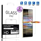 LEMOUTON Compatible with Sony Xperia L3 Tempered Glass Screen Protector - [2 Pack] Smartphone Protective Film for Sony Xperia L3 5.7' 2019