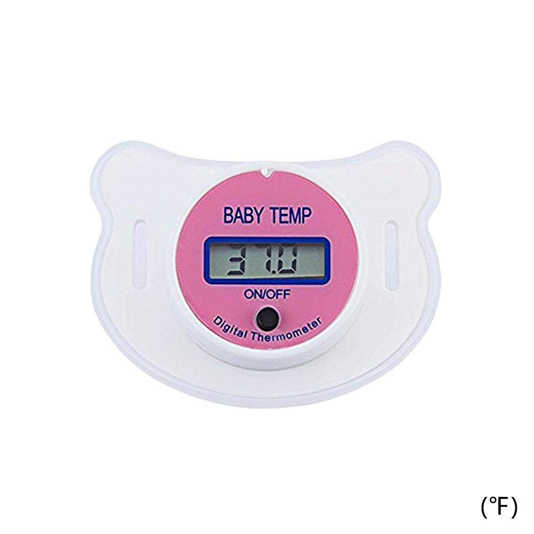 Iekofo Pacifier Thermometer Baby Kid Digital Oral Thermometer Kid Nipple Pacifier Fever Temperature Monitor