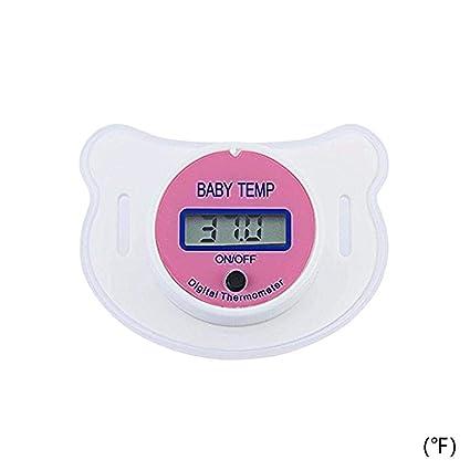 Murieo Temperatura del beb/é de la Herramienta del Monitor de la Temperatura de la Boca del term/ómetro del Chupete de los ni/ños del beb/é LED
