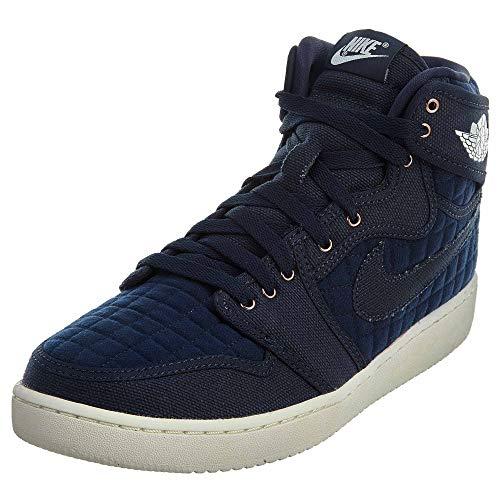 NIKE Mens Air Jordan 1 KO High OG Basketball Shoes Obsidian Blue/White 638471-403 Size 11.5 ()