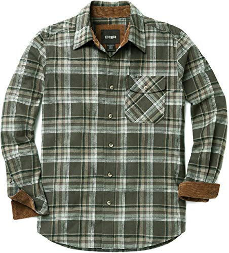 Brushed Plaid Shirt - CQR Men's Flannel Long Sleeved