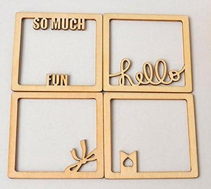 Amazon Com U D Chill Ideas Wooden Shapes Letters Vine Frame Mini