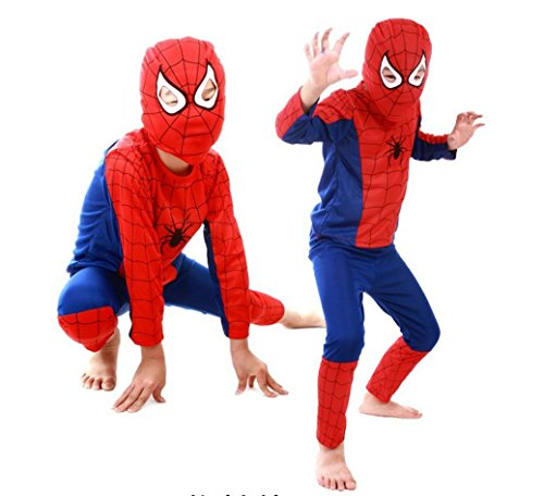 Kids Amazing Spiderman Spandex Zentai Suite Halloween Costume (Medium)