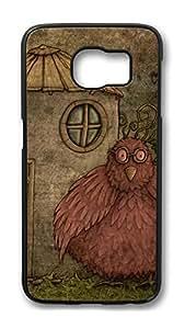 Brian114 Case, S6 Case, Samsung Galaxy S6 Case Cover, Bird 14 Retro Protective Hard PC Back Case for S6 ( Black )