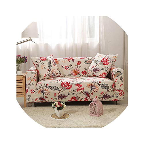 (Elastic Sofa Cover Cotton Sofa Slipcovers Tight Wrap All-Inclusive Sofa Covers for Living Room Pets Couch Cover 1/2/3/4 Seater,Color 15,3-Seater 190-230Cm)