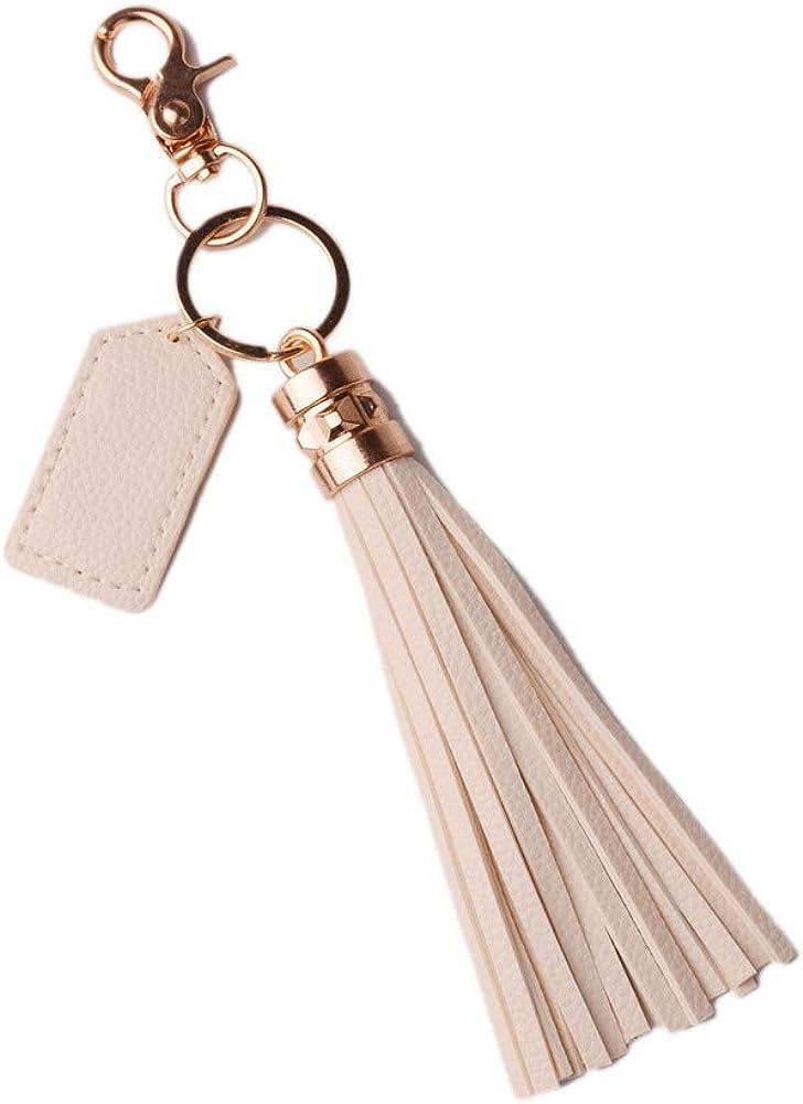 Metal Key Tassel Leather Bag Women Chain Keychain Pendant Ring Handbag Charm HOT