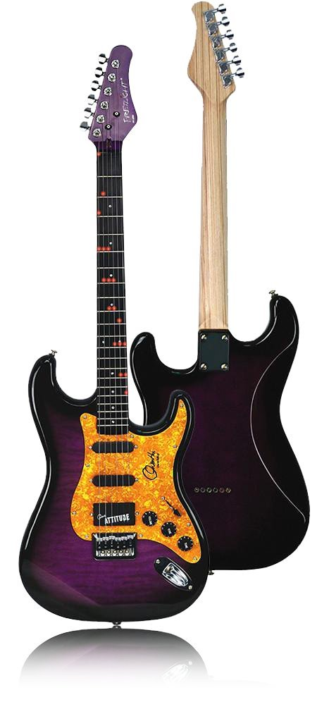 fretlight Orianthi Limted Edition inalámbrico para guitarra eléctrica con integrado con luz LED Sistema de Aprendizaje (oro): Amazon.es: Instrumentos ...