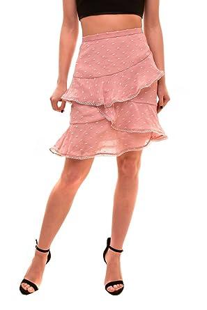 Keepsake Falda escotada auténtica para Mujer Rosa Talla S: Amazon ...