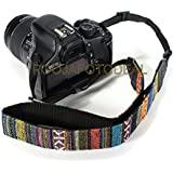 SHOPEE Retro Vintage National Wind Cotton Shoulder Neck Stripe Strap Belt For Panasonic For Sony For Nikon For Canon SLR DSLR Camera