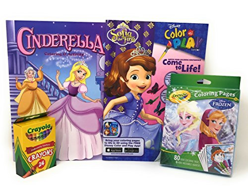 Princess Coloring Books Crayons And Stickers For Girls Including Mini Pages Markers Bundle With