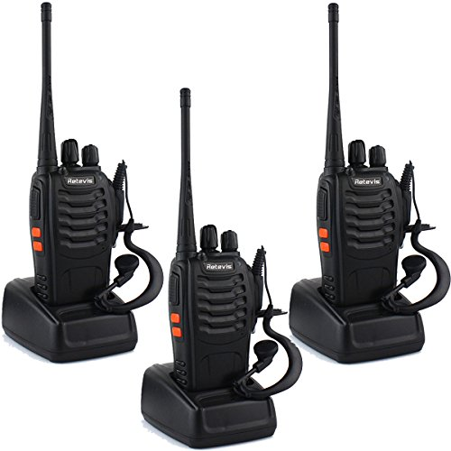 Retevis H-777 Two Way Radios Long Range UHF 400-470MHz 3W 16CH CTCSS/DCS Walkie Talkies (3 Pack)