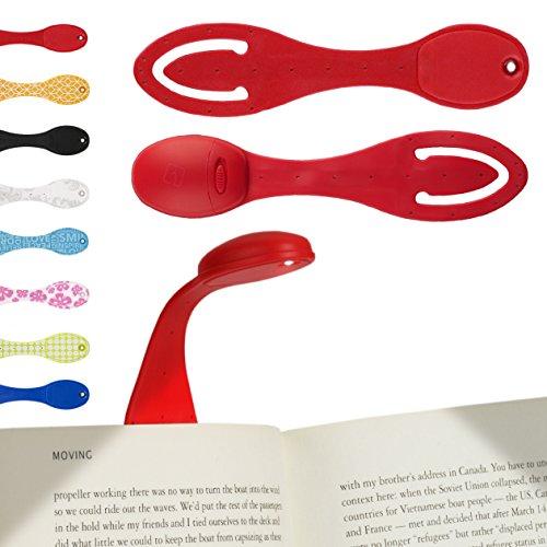 LED Leselicht - LED Klemmleuchte - Klemm-Lesezeichen - Das Flexilight ist ideal furs Lesen im Bett und ist ein großartiges Weihnachtsgeschenk - Batterien im Lieferumfang enthalten