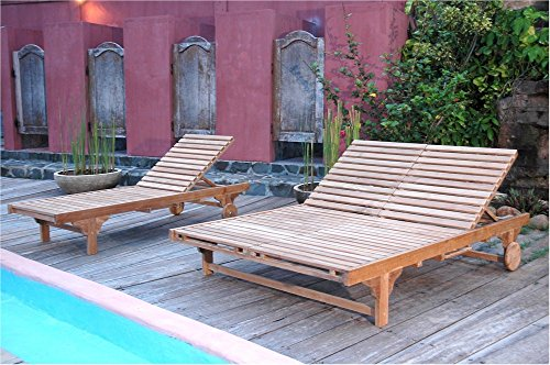 Anderson Teak Bel-Air Double Back Sun Lounger Without -