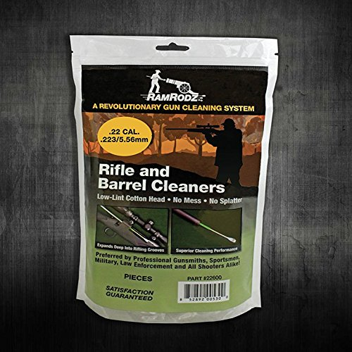 RamRodz AR-15 Swab .22 / .223 / 5.56mm 600 Caliber Specific Pointed Swabs Rifle and Barrel Cleaners