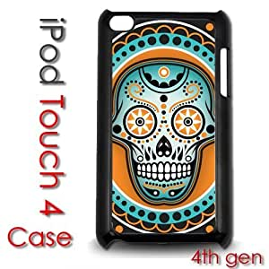 IPod Touch 4 4th gen Touch Plastic Case - Sugar Skull Colorful skulls dia de los muertos