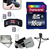 Transcend 16GB High Speed Memory Card KIT for Nikon Coolpix P610, P600, P530, P520, 1 S2, 1 J4, 1 V3, P340, P310, P510, 1 AW1, 1 J3, 1 J2, 1 J1, 1 S1, 1 V2, L840, L830, L820, L810, L330, L320, L310, L610, L620, P7700, P7800 Digital Cameras