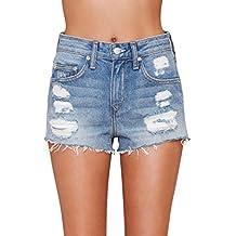 Women's Distressed Short Vintage Levi's Frayed Shorts Denim High Rise