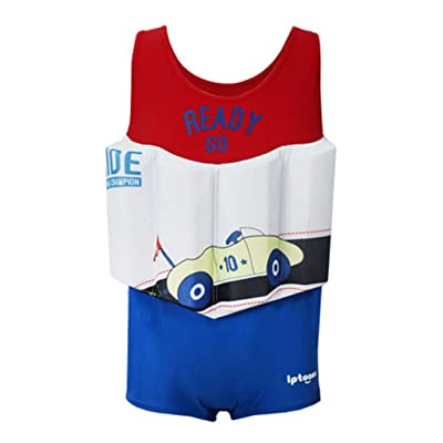 Boys Float Suit Floating Swimsuit Kids One Piece Sleeveless Buoyancy Swimwear: Clothing