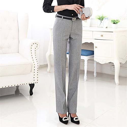 Cheryl Bull Stylish Formal Pants for Women Office Lady Style Work Wear Straight Trousers Female Clothing Business Design Light gray pants M by Cheryl Bull Pants