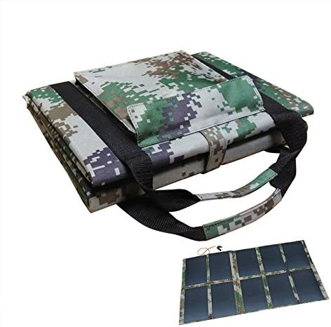 Cargador Solar Portátil De 100 Vatios De 18 Voltios Cargador Solar De Panel Plegable con Conector Mc4 para Acampar, Senderismo, Generador Solar, RV