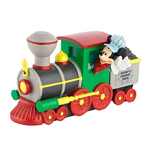 Department 56 Disney Mickey's Merry Christmas Village ''Mickey's Holiday Train'' Engine Accessory #4032204 by Department 56