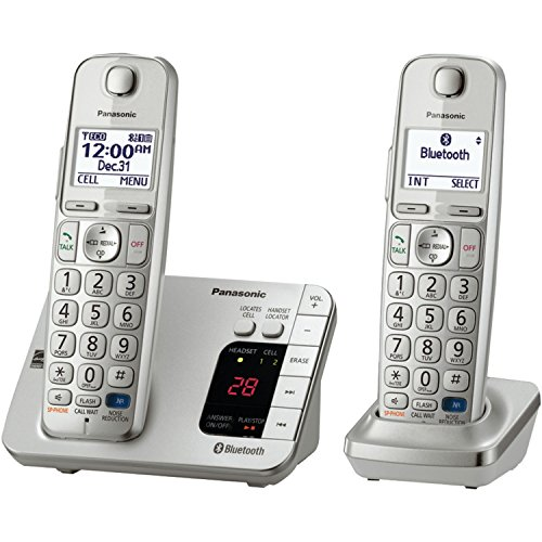Panasonic KX-TGE262S Link2Cell Bluetooth Enabled Phone with Answering Machine 2 Cordless Handsets