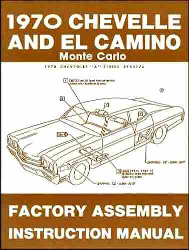 1970 Chevelle El Camino Monte Carlo Assembly Manual (with Decal)