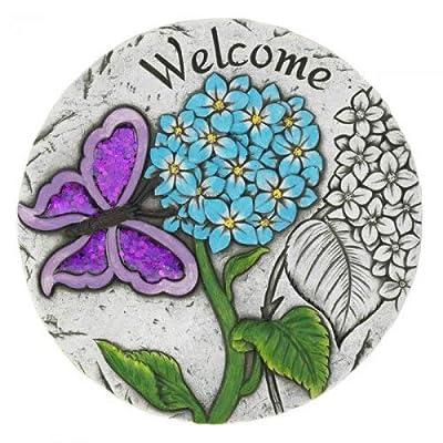 Summerfield Terrace 10018542 Welcome Butterfly Garden Stepping Stone Multicolor