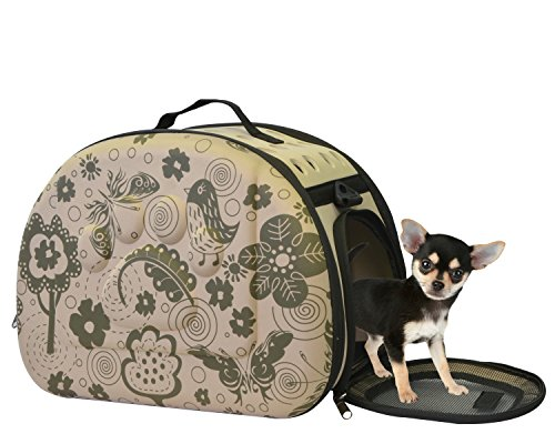 Collapsible Pet Carrier Portable Bag with Hard Sided - EVA Lightweight Cat Carrier and Small Dog Carrier For Airline Approved Travel by KritterWorld