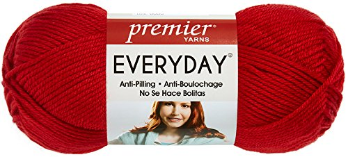 Premier Yarns Solid Deborah Norville Everyday Soft Worsted, Really Red (Pack of 3)