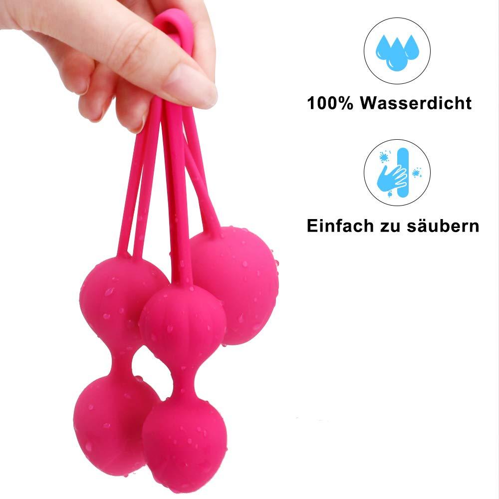 Silikon Liebeskugeln zum Beckenbodentraining für Frauen,Kegelball 3er Set,Perfekt für Beckenboden- & Sextraining,Wasserfest