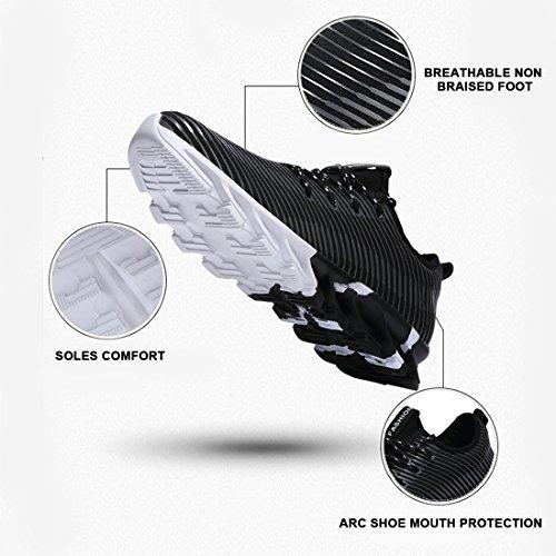 décontractées pour 40 Noir Chaussures respirantes Chaussures piano course pour Chaussures Souliers hommes Supshark de Baskets Noir EU basses Y5pqcU