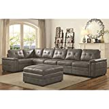 Coaster Home Furnishings 551292 Corner Sofa, Grey