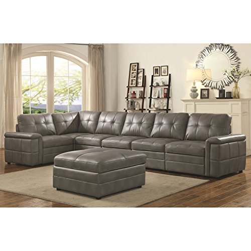 Coaster Home Furnishings 551292 Corner Sofa, Grey