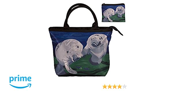 Manatees Small Purse and Marching Change Purse - Great Gift Set for Young Girls - From My Painting