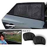TIROL Air Mesh Car Sun Shades Protect Children Pets Kid from the Sun's Glare Universal Fit Rear Side Window Travel for Car,SUV, Sedan (Pack of 2)