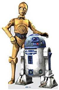 C3PO and R2D2 Life Size Cutout 70in