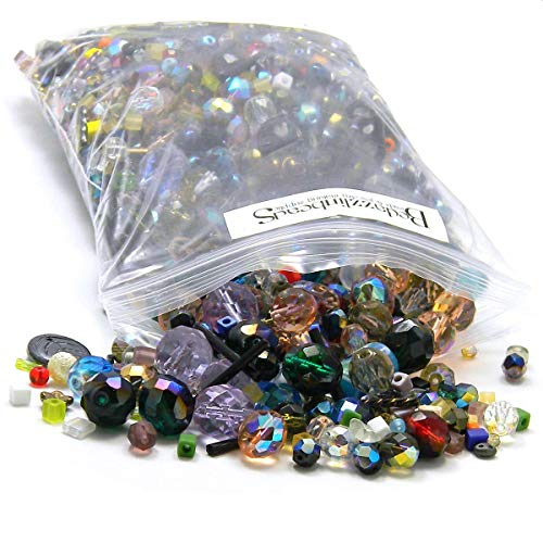 - Big 1 Pound Bag Lot of Mixed Assorted Glass Beads in Many Shapes Sizes & Colors