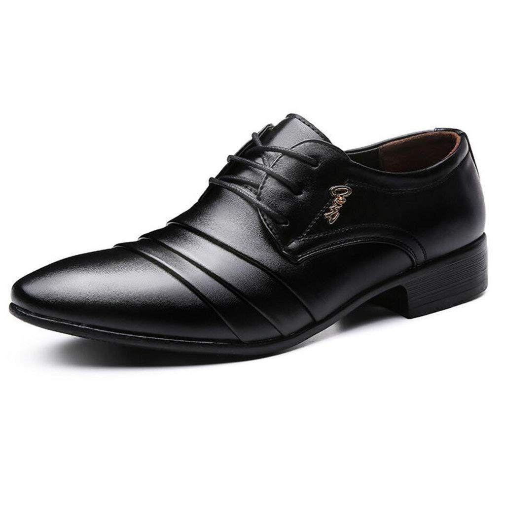 Zxcvb Mens Formal Suit Kleid Schuhe Business-Schuhe Schnür-Kleid Lederschuhe Casual Hochzeit Spitz erhöhen Größe 39-46