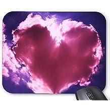 Mouse Mat Pink Heart Cloud Blue Sky Print Mouse Pad