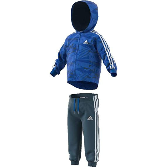 adidas Kinder Shiny Jogginganzug mit Kapuze Trainingsanzug