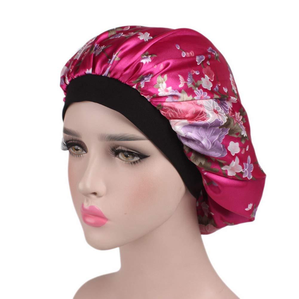 Natural 100% Mulberry Silk Sleep Night 2 Pieces Cap Head Cover Bonnet Hair Beauty Cap Bonnet for Hair Loss Women Soft Size Fits Most Tomister