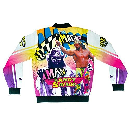 b3a76b7a2 WWE Authentic Wear Macho Man Randy Savage Retro Fanimation Chalk Line Jacket