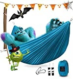 """NEW UPGRADED HAMMOCK  Can be used as sunshade, camping/beach blanket, swing chair, warm blanket etc. Capacity:550lbs, Size:118""""x75"""". Best hammock for family camping.  PACKED DIMENSIONS  6 in (tall) x 5 in (diameter); Weight:1.8lbs; Its small size mak..."""