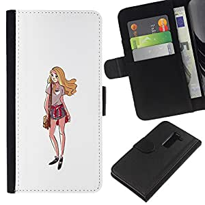 ZCell / LG G2 D800 / Girl Shorts Summer Outfit Style Fashion Art / Caso Shell Armor Funda Case Cover Wallet / Chica Shorts Verano vestimenta esti