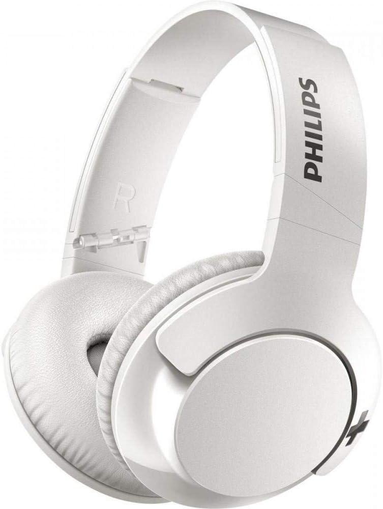 PHILIPS BASS+ Auriculares SHB-3175WT/00, Blanco