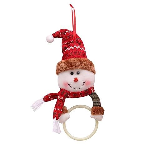 BESTOYARD Toalla Colgante Anillo de Navidad para Cocina baño