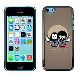QCASE / Apple Iphone 5C / mala culo traje de armas película cotización ficción arte / Delgado Negro Plástico caso cubierta Shell Armor Funda Case Cover